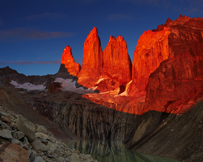 Amanecer Torre del Paine, Chile