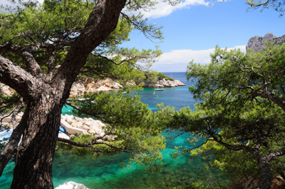 Calanques de Port Pin, Cassis, Francia