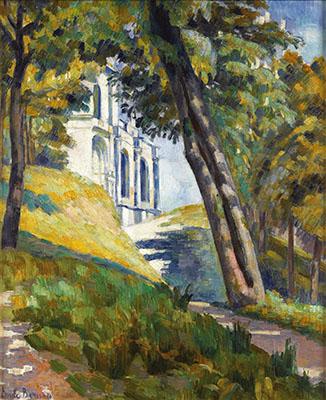 Camino que conduce a la Iglesia de Saint-Pierre en Tonnerre