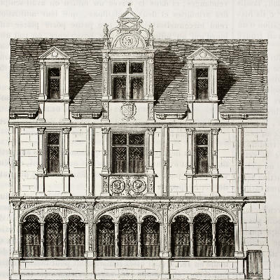 Casa antigua en Paris Francia 1835