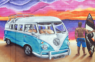Graffiti - VW Hippie