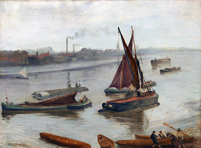 Gris y oro: antiguo Battersea Reach