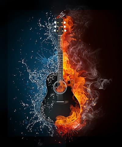 Guitarra Agua y Fuego