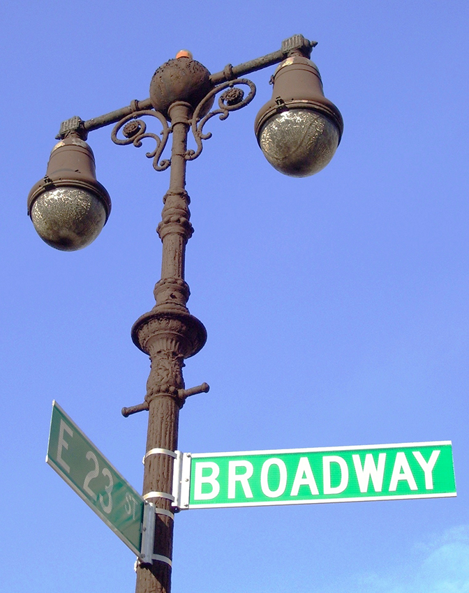 Lamppost  Broadway and 23rd Street