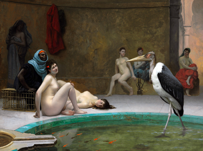 Le Marabout in the Harem bath