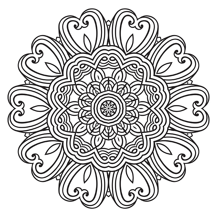 Mandala Black and Grey I