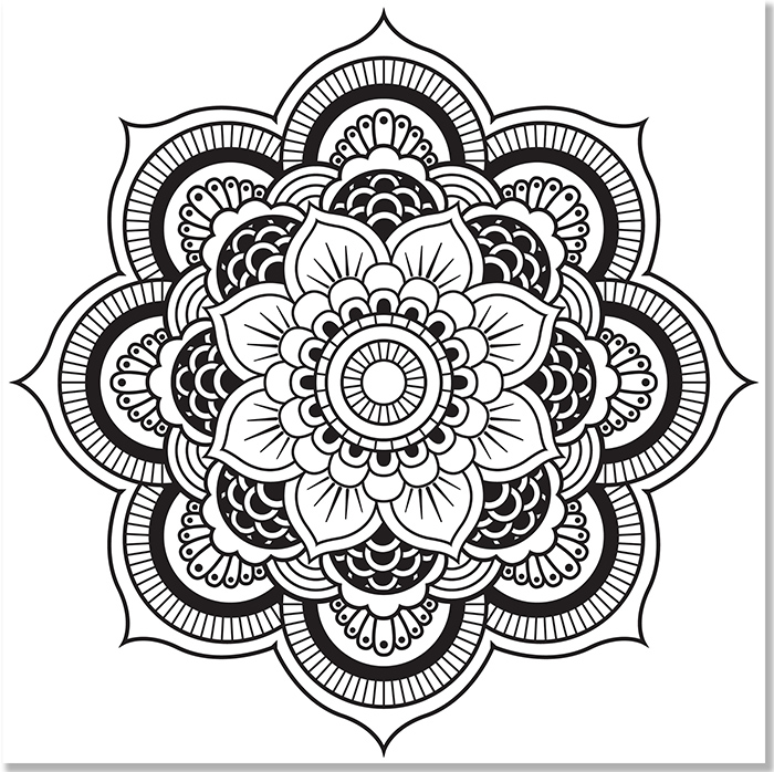 Mandala Black and Grey