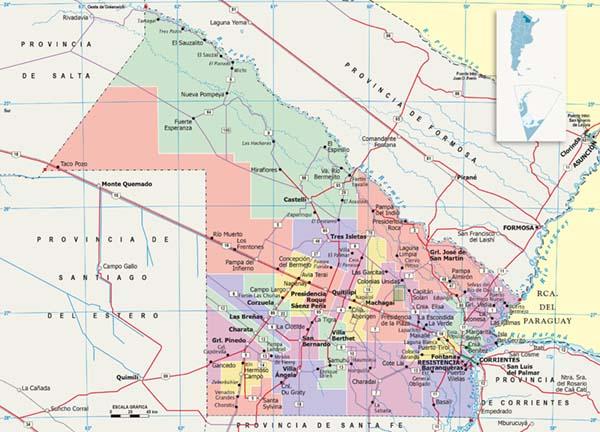Mapa politico Chubut