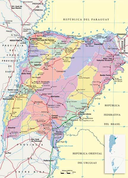 Mapa Politico Corrientes