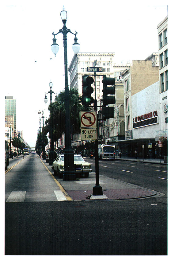New Orleans 1977 Canal Street at Royal