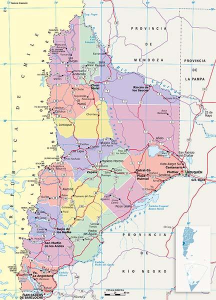 Mapa Politico Neuquen