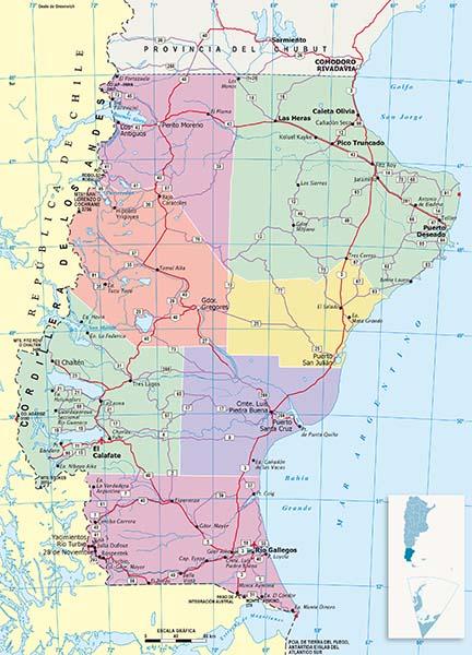 Mapa Politico Santa Cruz