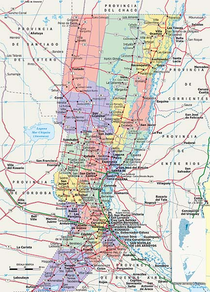 Mapa Politico Santa Fe