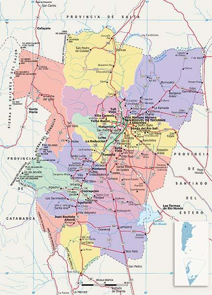 Mapa Politico Tucuman