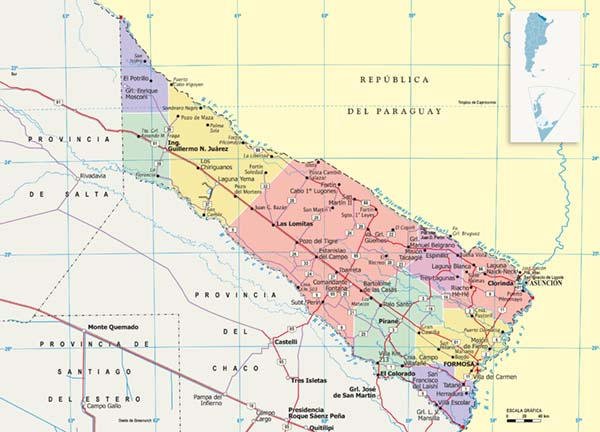 Mapa Politico Formosa
