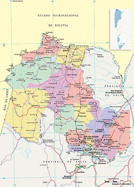 Mapa Politico Jujuy