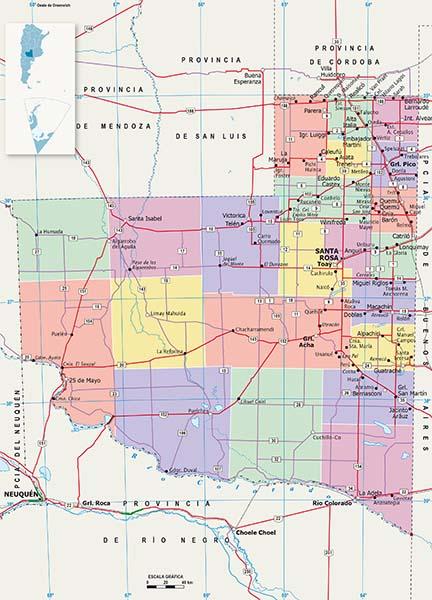 Mapa Politico La Pampa