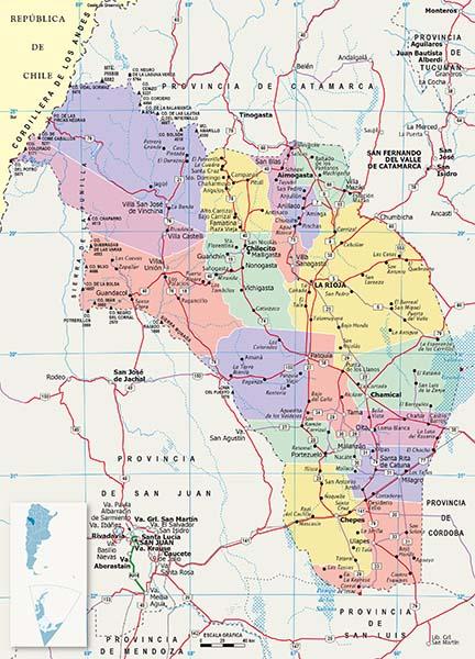 Mapa Politico La Rioja