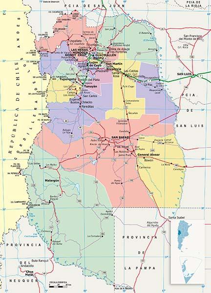 Mapa Politico Mendoza