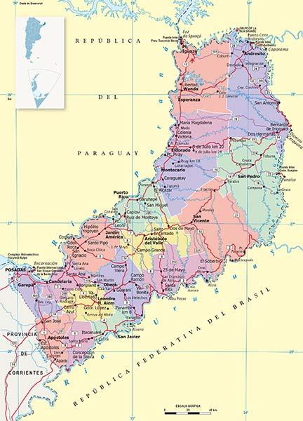 Mapa Politico Misiones