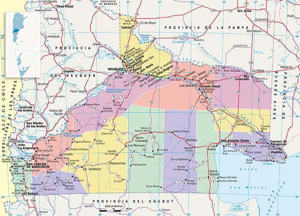 Mapa Politico Rio Negro