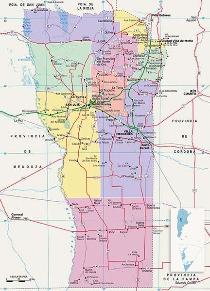 Mapa Politico San Luis