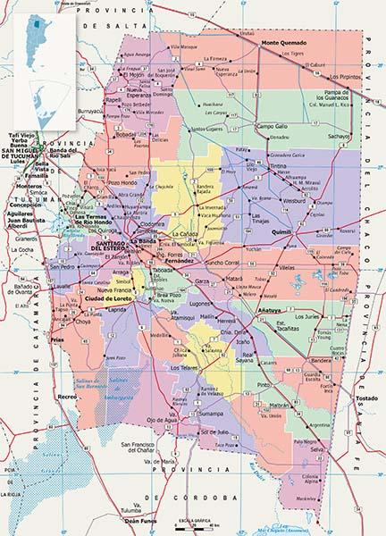 Mapa Politico Santiago del Estero