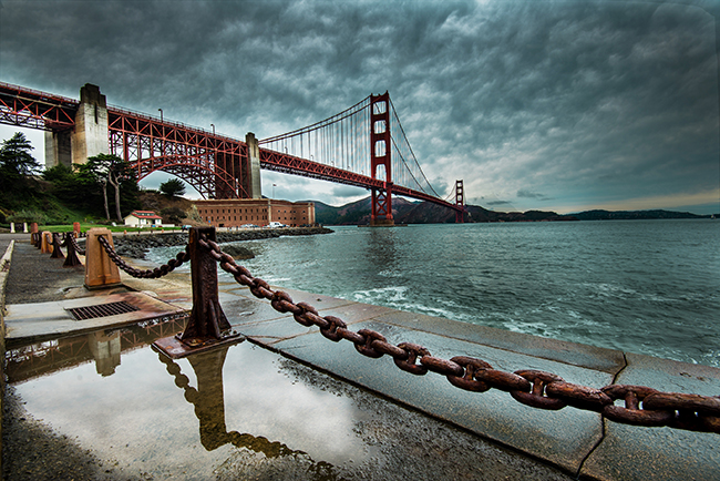Puente Golden Gate despues de llover