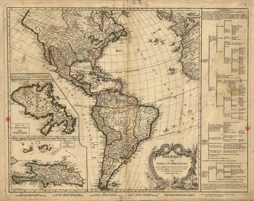 Amérique ou Indes Occidentales París 1778