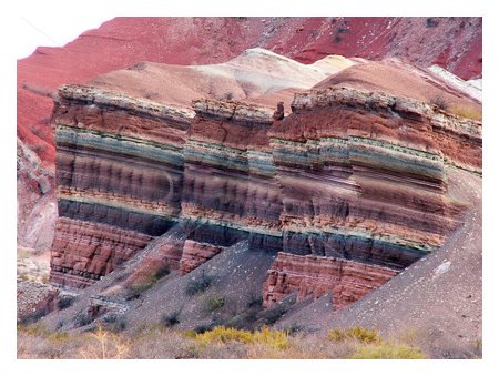 Roca colorida, Humahuaca