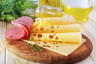 Salame y queso