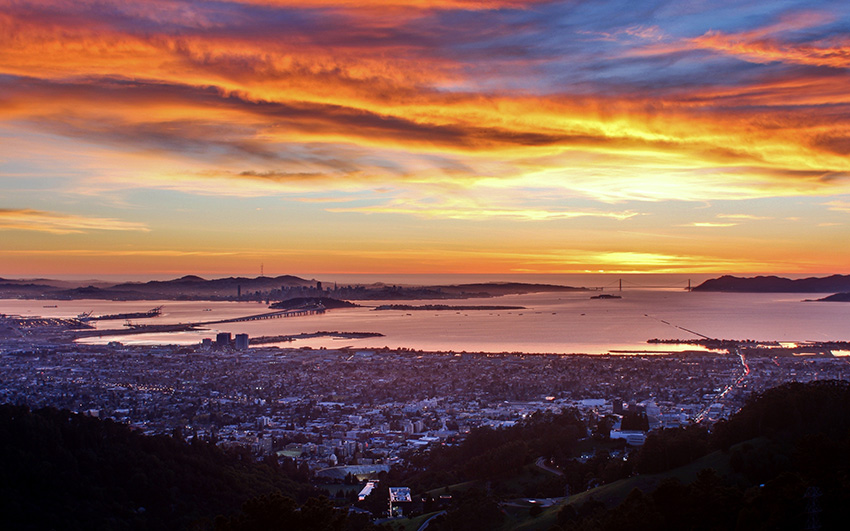 San Francisco  Berkeley Sunset