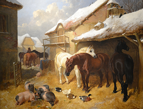 The Barnyard in Winter