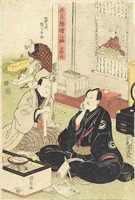 Los Actores Sawamura Sojuro y Arashi Shincha