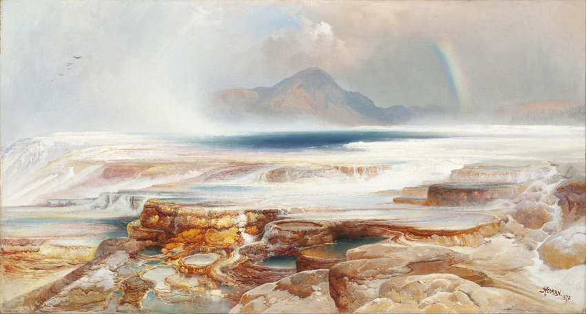 Thomas Moran - Aguas termales de Yellowstone