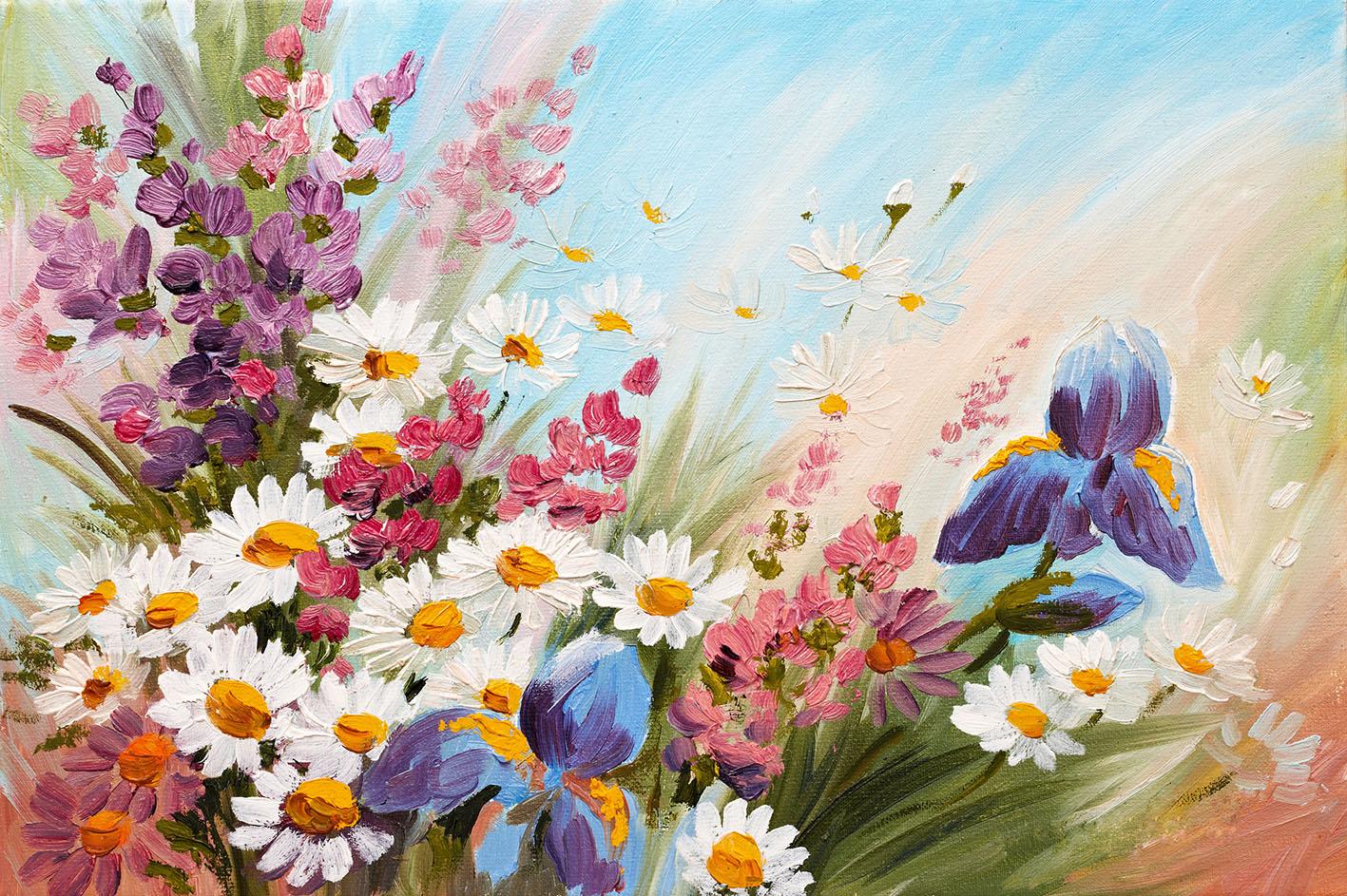 Ilustración abstracta de flores