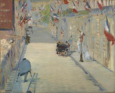 La calle Mosnier con banderas
