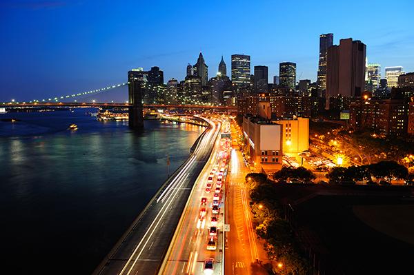Manhattan al anochecer