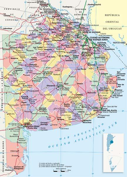 Mapa Politico Buenos Aires