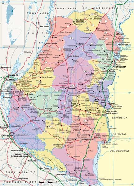 Mapa Politico Entre Rios