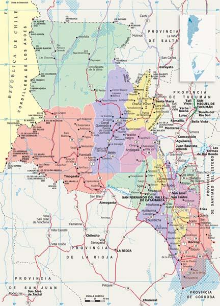Mapa politico Catamarca