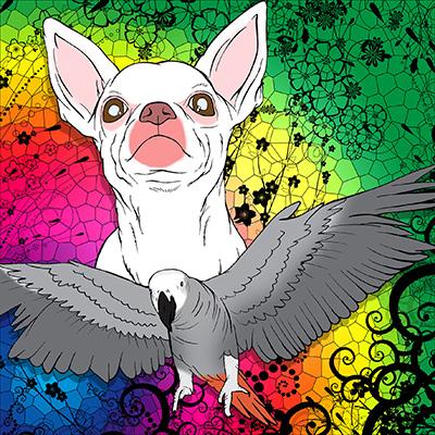 Perro y Pajaro POR ART