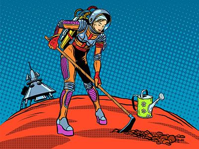 Astronauta Jardinera
