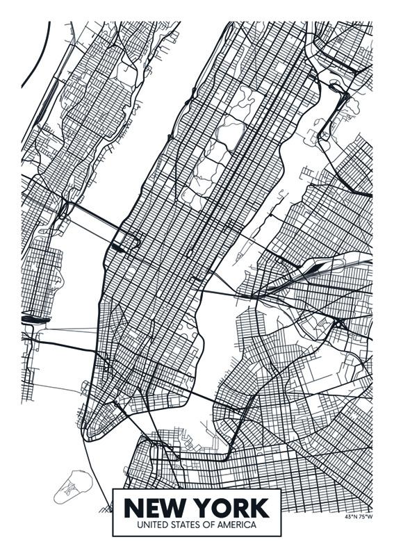 Mapa New York III