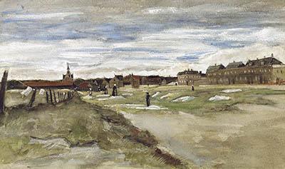 Tierra de blanqueo en Scheveningen